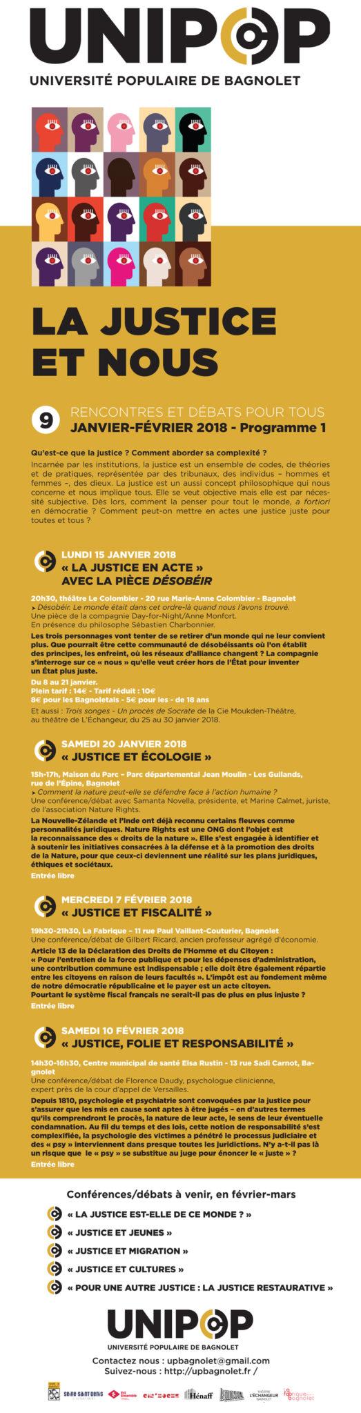 La justice et nous