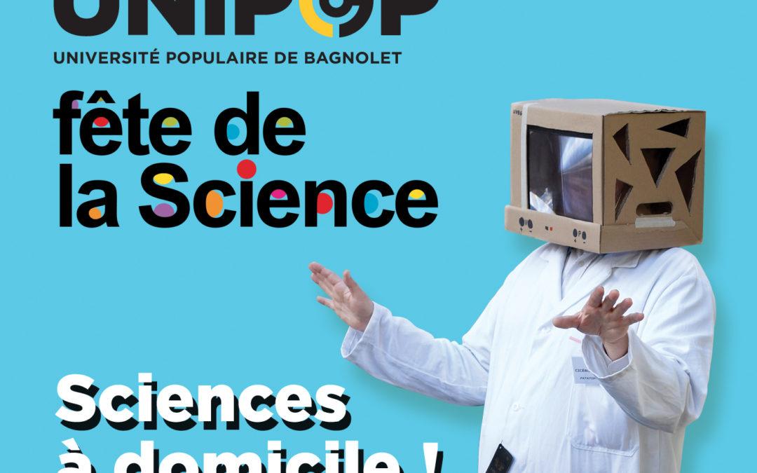 Festival Sciences à domicile du 5 au 21 octobre 2018